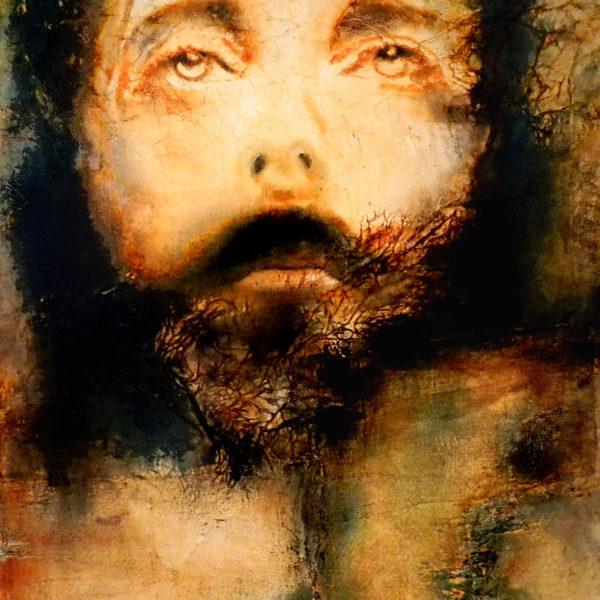 Jésus Christ, Huile sur toile d'après le suaire de Turin