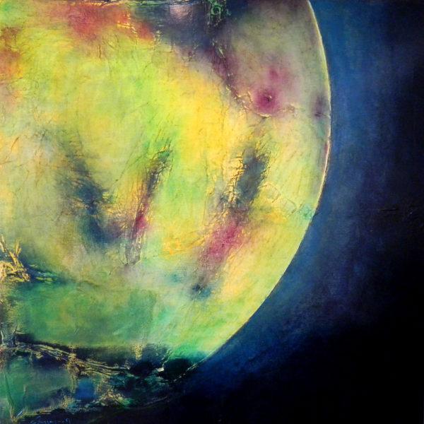Astre Terre Peinture à l'huile